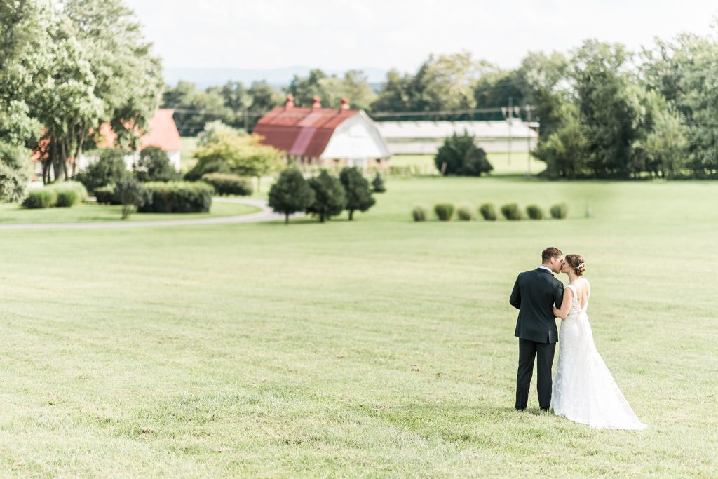 Couple taking a picture at Whitehall Estate a Loudoun County wedding and events venue